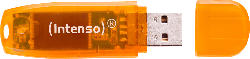 INTENSO Rainbow Line USB-Stick, Orange, 64 GB