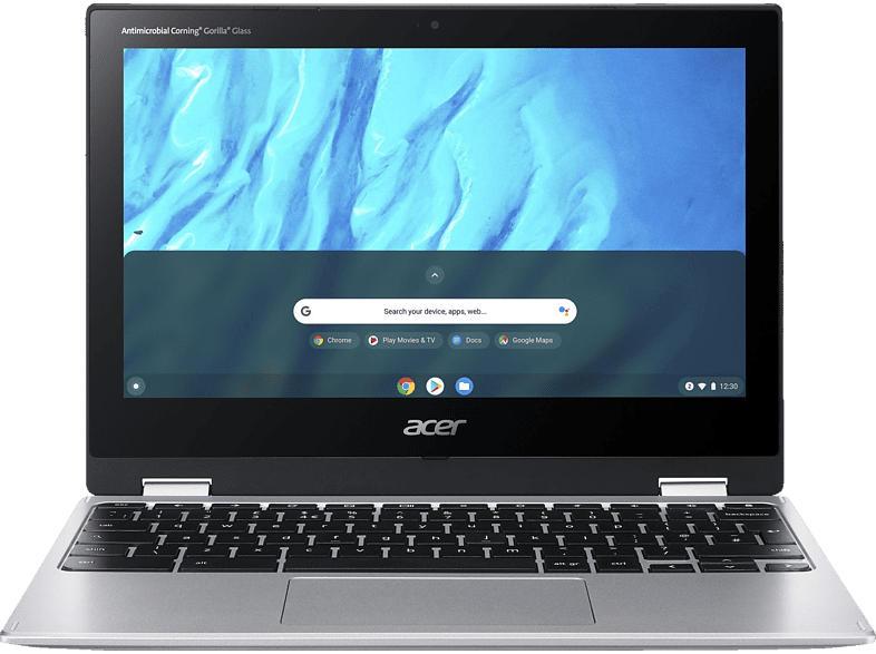 ACER Chromebook Spin 311 (CP311-3H-K2RJ), Chromebook mit 11.6 Zoll Display, Cortex A73/A53 Prozessor, 4 GB RAM, 64 GB eMMC, Mali-G72 MP3 GPU, Silber