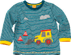 PUSBLU Kinder Pullover, Gr. 98, in Baumwolle, blau