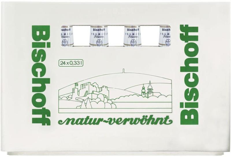 Bischoff Premium Pils 24 x 0,33 Liter, jeder Kasten