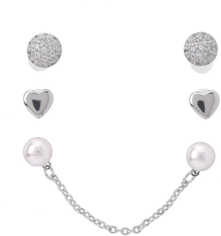 3 Paar Damen Ohrringe im Set (Nur online)