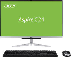 ACER Aspire C24-963, All-in-One PC mit 23.8 Zoll Display, Core i5 Prozessor, 8 GB RAM, 1024 GB SSD, Intel® UHD Graphics, Silber