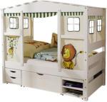 Möbelix Spielbett Massiv mit Matratze 80x160cm Lion Mini, Weiß