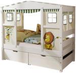 Möbelix Spielbett Massiv mit Matratze 80x200cm Lio Mini, Weiß