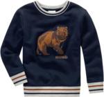 Ernsting's family Jungen Sweatshirt mit Bären-Applikation