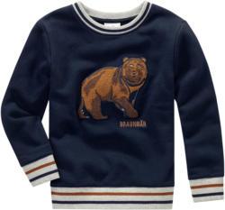 Jungen Sweatshirt mit Bären-Applikation