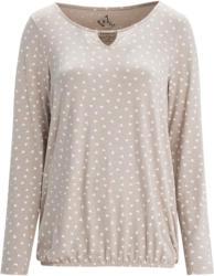 Damen Langarmshirt mit Minimal-Print
