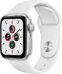Watch SE GPS 40mm Aluminiumgehäuse Silber mit Sportarmband Weiß