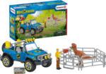 MediaMarkt SCHLEICH Geländewagen mit Dino-Außenposten Spielfiguren, Mehrfarbig