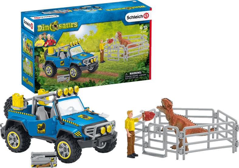 SCHLEICH Geländewagen mit Dino-Außenposten Spielfiguren, Mehrfarbig