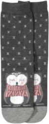 1 Paar Damen Socken mit Eulen-Motiv
