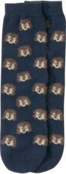 1 Paar Damen Socken mit Igel-Allover (Nur online)