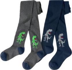 2 Jungen Strumpfhosen mit Dino-Motiven