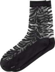 1 Paar Damen Socken im Zebra-Look