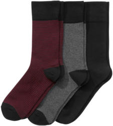 3 Paar Herren Socken mit Komfortbündchen