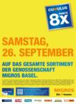 Migros Basel MIGROS 8x Cumulus - al 26.09.2020