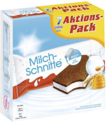 Ferrero Milch-Schnitte 7 x 28 g = 196 g oder Kinder-Pingui 6 x 30 g = 180 g jede Packung