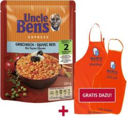Uncle Ben's 2 Minuten Express Reis Mediterran oder Griechisch jeder 220/250-g-Beutel und weitere Sorten