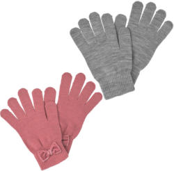 2 Paar Damen Handschuhe mit Samtschleife (Nur online)