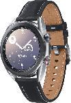 MediaMarkt SAMSUNG  Galaxy Watch 3 41 mm LTE & Bluetooth Smartwatch Edelstahl, Echtleder, Größe S/M (130 - 190 mm), Mystic Silver/Black