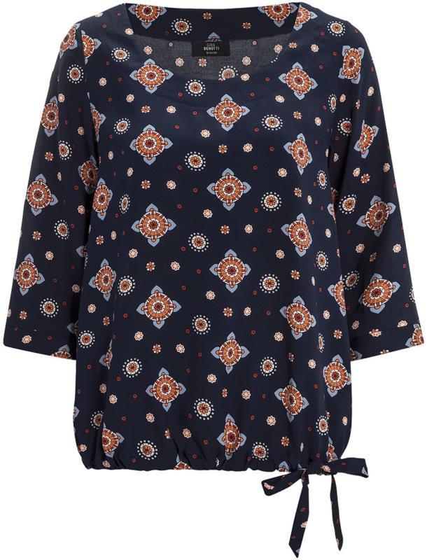 Damen Bluse mit Allover-Motiv (Nur online)