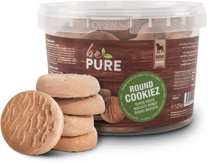 bePure Hundeleckerli Round Cookiez 1.25kg