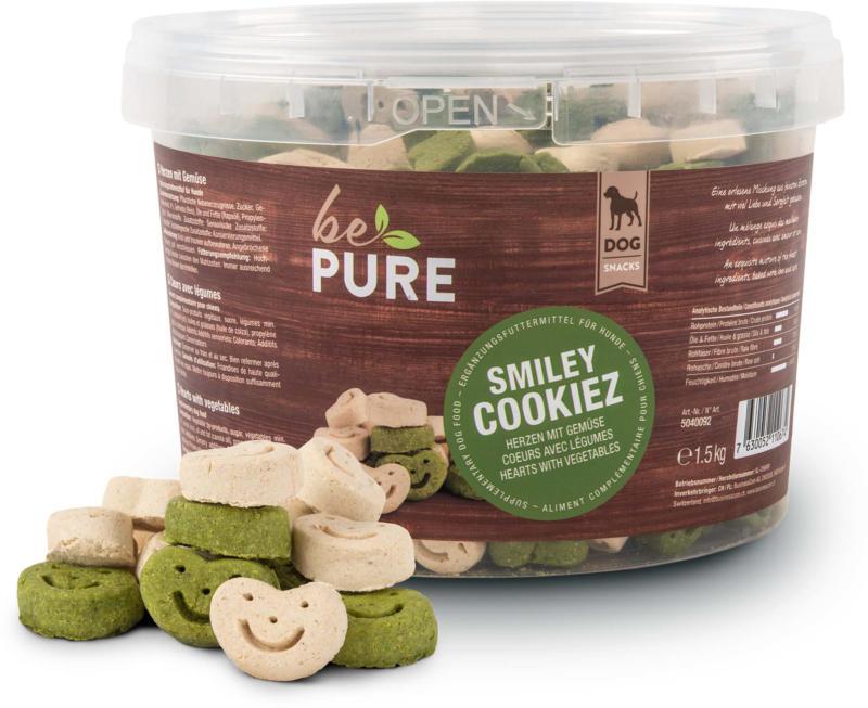 bePure Friandises pour chiens Smiley Cookiez, coeurs avec légumes 1.5kg