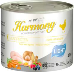 Harmony Dog Monoprotein Light Huhn & Gemüse 12x200g