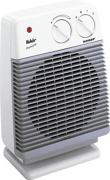 FAKIR Hobby HL 600 Heizlüfter Hellgrau/Weiß (2000 Watt)
