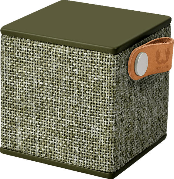 FRESH N REBEL Rockbox Cube Fabriq Edition Bluetooth Lautsprecher, Grün