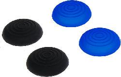 Control:caps für Dualshock 4 Controller (2x schwarz 2x blau)