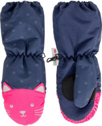 Baby Handschuhe mit Katzen-Motiv
