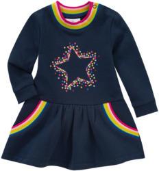 Baby Sweatkleid mit Regenbogen-Bündchen
