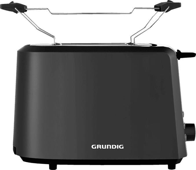 GRUNDIG TA 4620 Harmony Toaster Schwarz (850 Watt, Schlitze: 2)