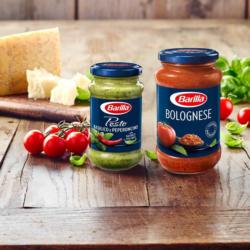 Barilla Pesto Basilico E Peperoncino oder -Sauce Bolognese jedes 190/400-g-Glas und weitere Sorten
