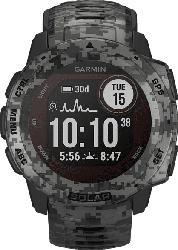 GARMIN  Instinct Solar Smartwatch Faserverstärktes Polymer, Silikon, 132 - 224 mm (45 x 45 x 15.3 mm), Schiefergrau Camo