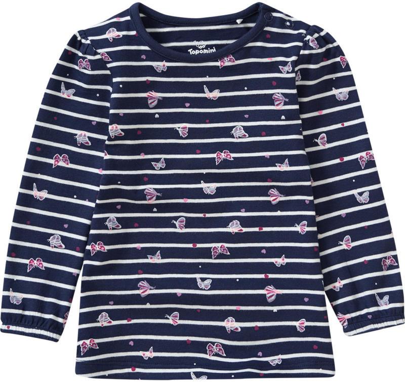 Baby Langarmshirt mit Schmetterlings-Motiv