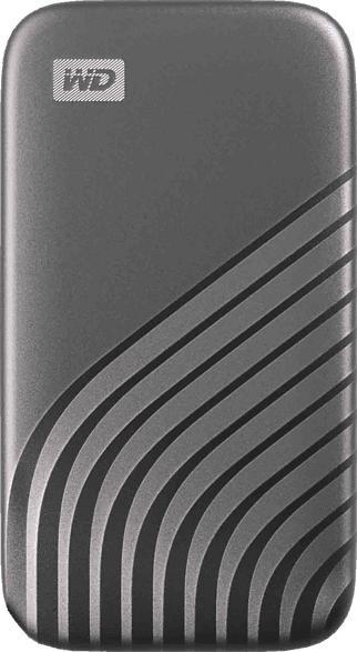 WD My Passport™, 500 GB SSD, 2.5 Zoll, extern, Grau