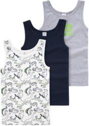 3 Jungen Unterhemden mit Dino-Print