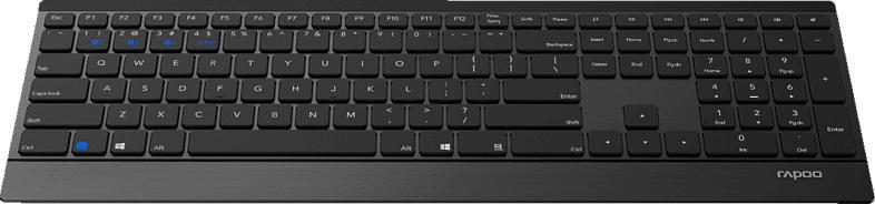 RAPOO 9500M, Tastatur-Maus Set, Schwarz