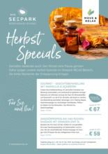 Das Seepark Wörthersee Resort - Herbst Specials
