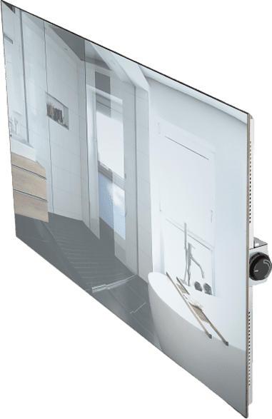 Infrarot Glasheizkörper Weiß 60x120cm Spiegel