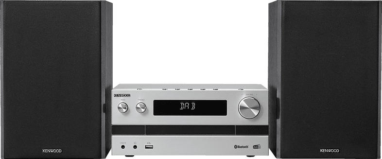 KENWOOD M-918 DAB Micro HiFi-System (Silber, Schwarz)