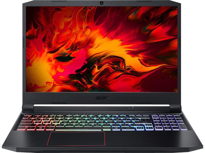 ACER Nitro 5 (AN515-55-790P) RGB Tastaturbeleuchtung, Gaming Notebook mit 15.6 Zoll Display, Core i7 Prozessor, 8 GB RAM, 512 GB SSD, GeForce GTX 1660Ti, Schwarz/Rot