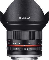 SAMYANG MF 12mm F2.0 APS-C 12 mm f/2  (Objektiv für Micro-Four-Thirds, Schwarz)