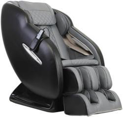 Massagesessel in Textil Grau, Schwarz