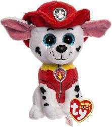 TY Beanie Boos Glubschis Paw Patrol Marshall 15cm Kuscheltier, Weiß/Rot