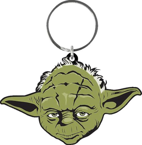 EMPIRE Star Wars - Yoda - Gummi Schlüsselanhänger Schlüsselanhänger, Mehrfarbig