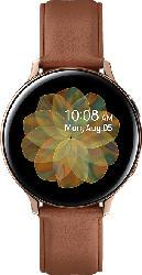 SAMSUNG  Galaxy Watch Active2 Stainless Steel 44mm (LTE) GO Smartwatch Edelstahl, Echtleder, M/L, Gold