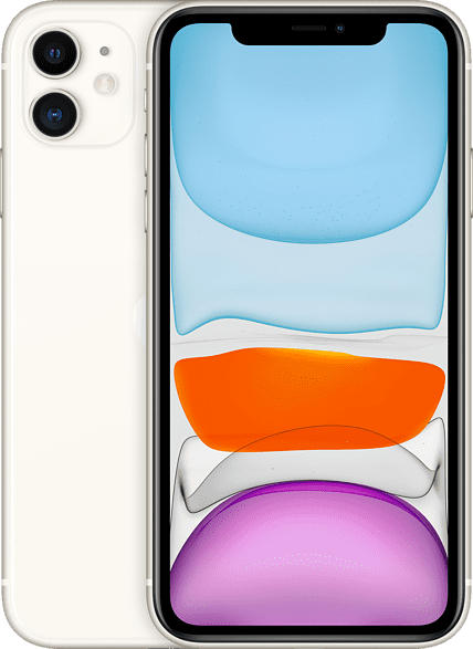 APPLE iPhone 11 128 GB Weiß Dual SIM